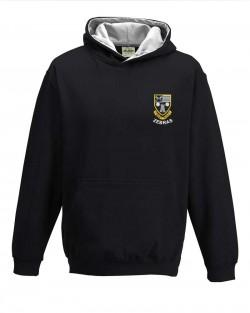 Otley Rugby Kids Varsity Hoodie Jet Black Heather Grey