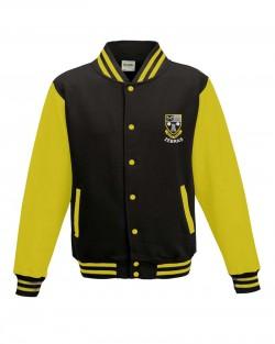 Otley Rugby Kids Varsity Jacket Jet Black Sun Yellow
