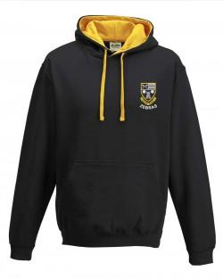 Otley Rugby Varsity Hoodie Jet Black Gold