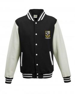Otley Rugby Varsity Jacket Jet Black White